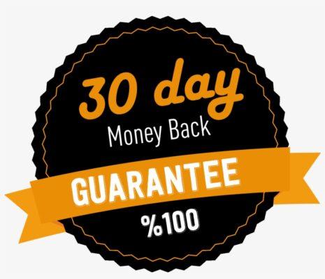 1005 10053602 30 days money back guarantee label